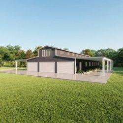 Barns 60x100 barn metal building rendering 3