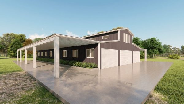 Barns 60x100 barn metal building rendering 4 1