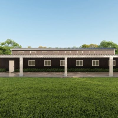 Barns 60x100 barn metal building rendering 5 1