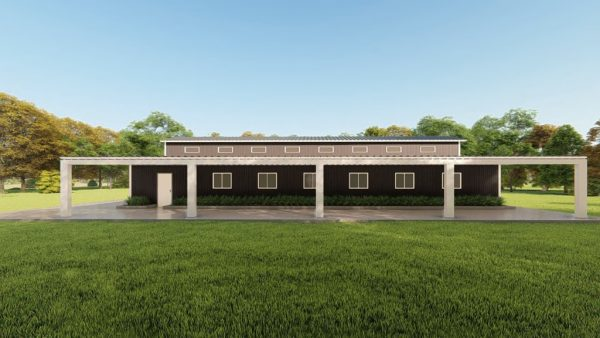 Barns 60x100 barn metal building rendering 5