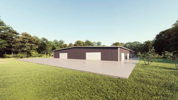 Base building packages 100x150 metal building rendering 1