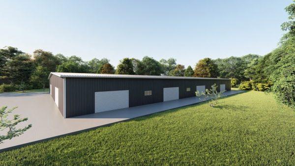 Base building packages 100x150 metal building rendering 5