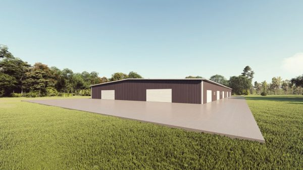 Base building packages 100x200 metal building rendering 1