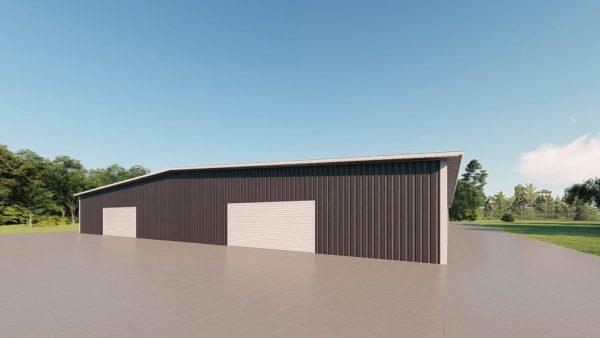 Base building packages 100x200 metal building rendering 3