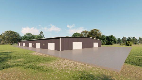 Base building packages 100x200 metal building rendering 4