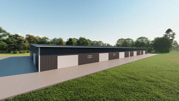 Base building packages 100x200 metal building rendering 5