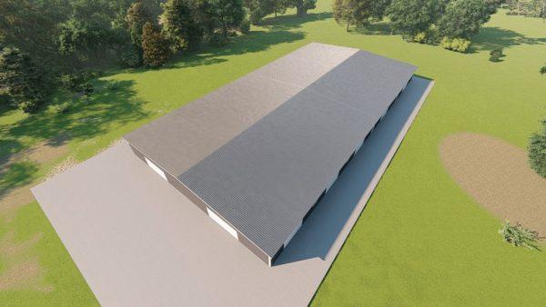 Base building packages 100x200 metal building rendering 6