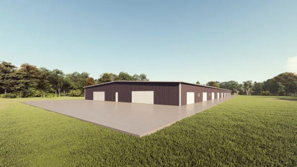 Base building packages 100x300 metal building rendering 1