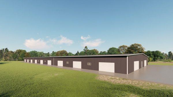 Base building packages 100x300 metal building rendering 4