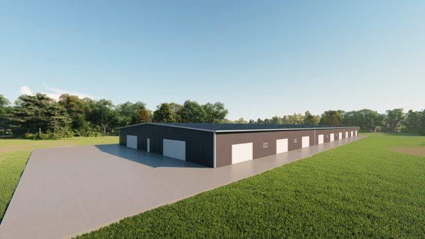 Base building packages 100x300 metal building rendering 5