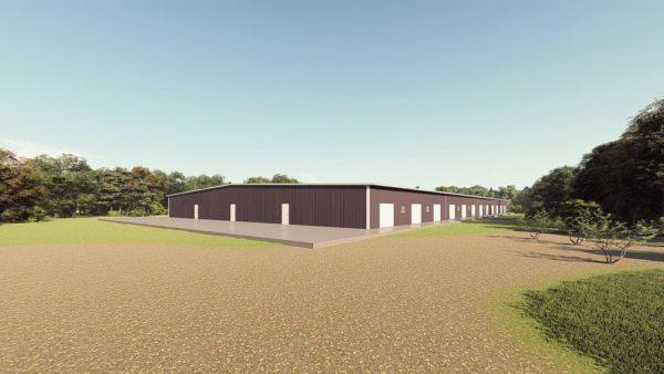 Base building packages 200x400 metal building rendering 1