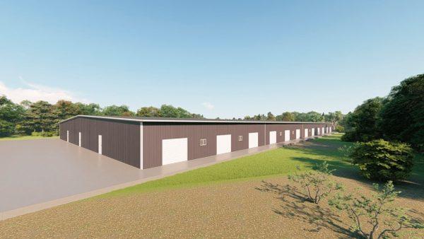 Base building packages 200x400 metal building rendering 3