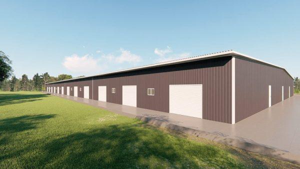 Base building packages 200x400 metal building rendering 4