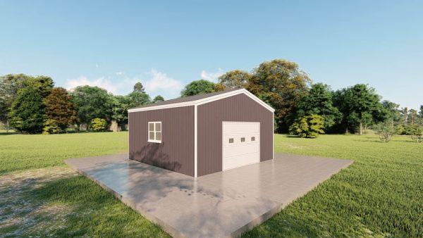 Base building packages 20x20 metal building rendering 4