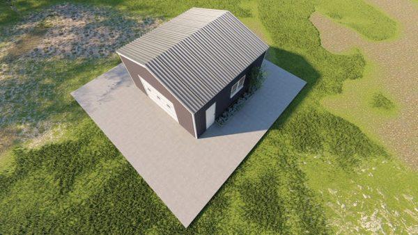 Base building packages 20x20 metal building rendering 6