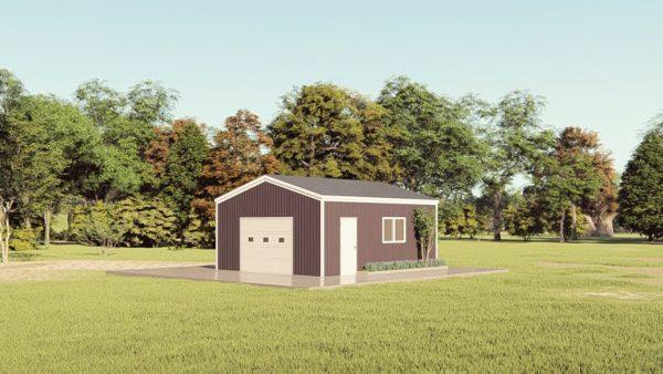 Base building packages 20x24 metal building rendering 1