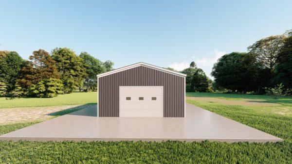 Base building packages 20x24 metal building rendering 2