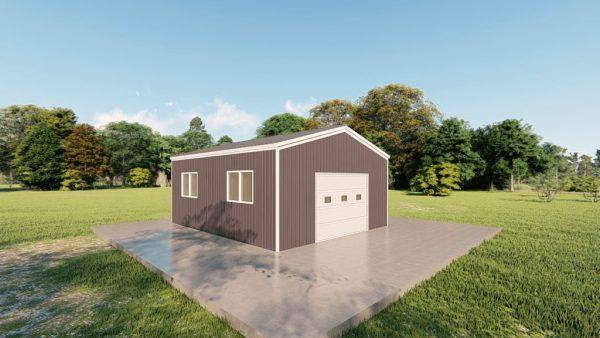 Base building packages 20x24 metal building rendering 4