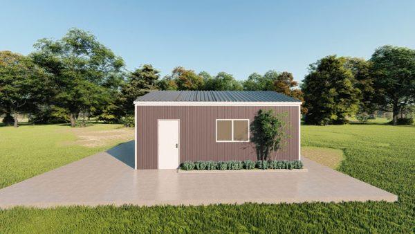 Base building packages 20x24 metal building rendering 5