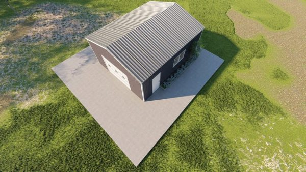 Base building packages 20x24 metal building rendering 6
