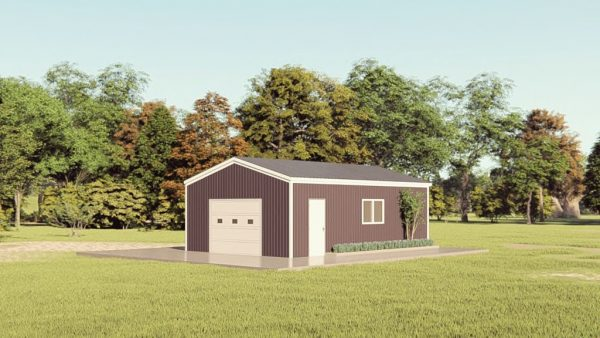 Base building packages 20x30 metal building rendering 1