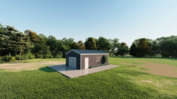Base building packages 20x30 metal building rendering 3