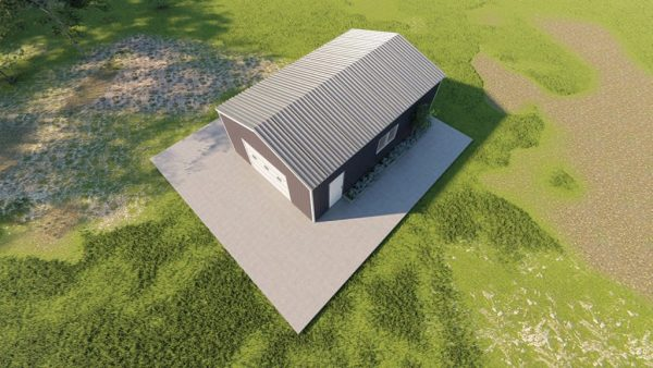 Base building packages 20x30 metal building rendering 6