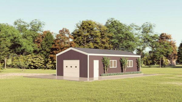 Base building packages 20x40 metal building rendering 1
