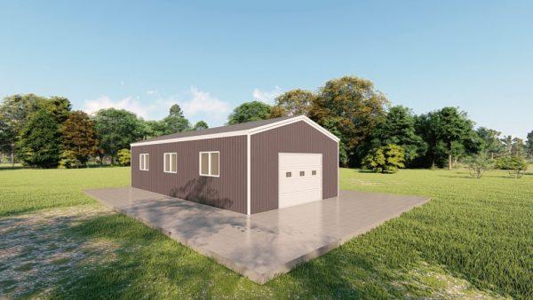 Base building packages 20x40 metal building rendering 4