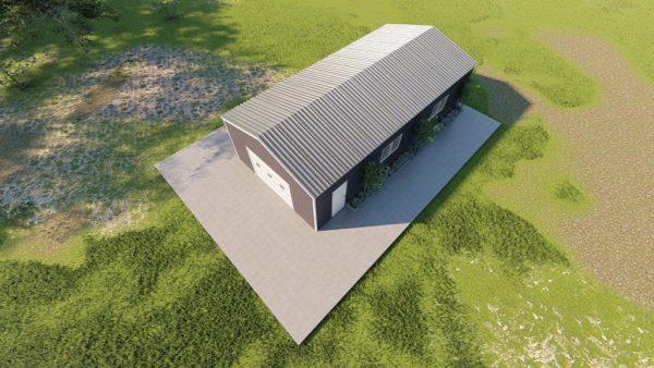 Base building packages 20x40 metal building rendering 6