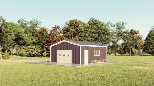 Base building packages 24x24 metal building rendering 1