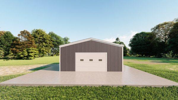 Base building packages 24x24 metal building rendering 2