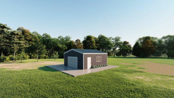 Base building packages 24x24 metal building rendering 3