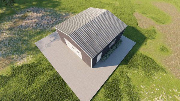 Base building packages 24x24 metal building rendering 6
