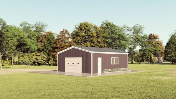 Base building packages 24x30 metal building rendering 1