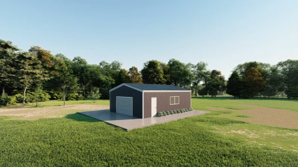 Base building packages 24x30 metal building rendering 3