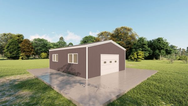 Base building packages 24x30 metal building rendering 4