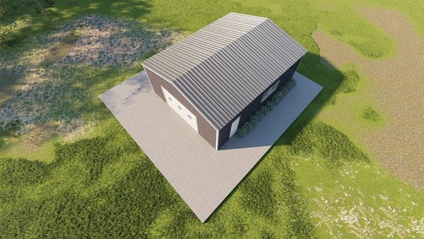 Base building packages 24x30 metal building rendering 6
