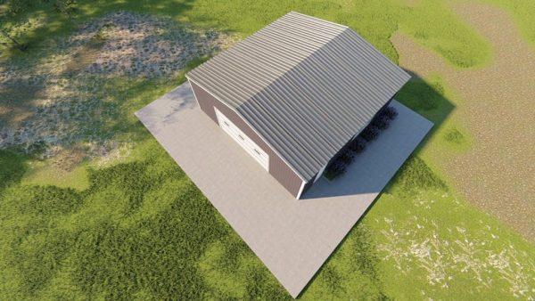 Base building packages 30x30 metal building rendering 6
