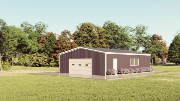 Base building packages 30x40 metal building rendering 1