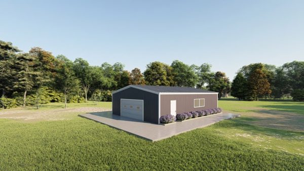 Base building packages 30x40 metal building rendering 3
