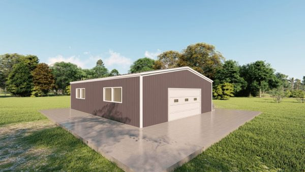 Base building packages 30x40 metal building rendering 4