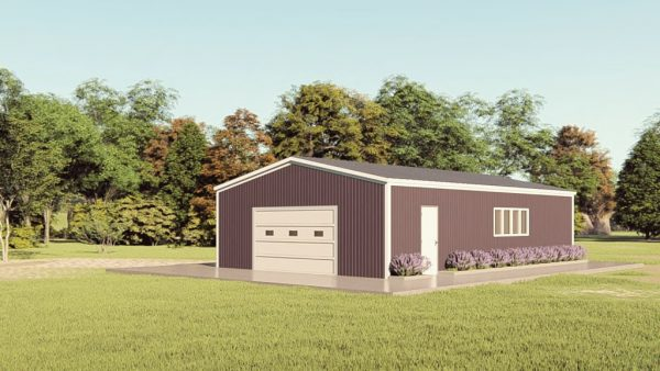 Base building packages 30x48 metal building rendering 1