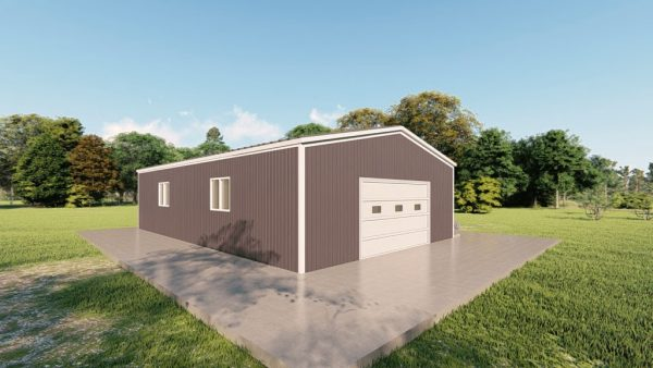 Base building packages 30x48 metal building rendering 4
