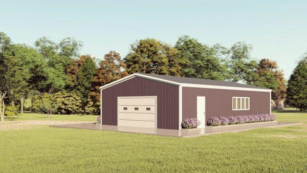 Base building packages 30x50 metal building rendering 1