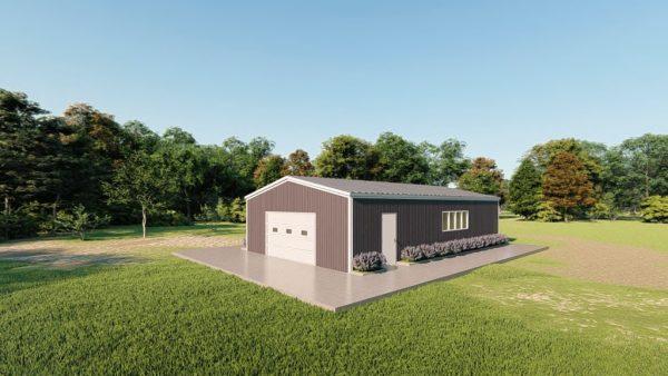 Base building packages 30x50 metal building rendering 3
