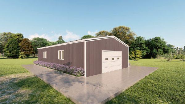 Base building packages 30x50 metal building rendering 4