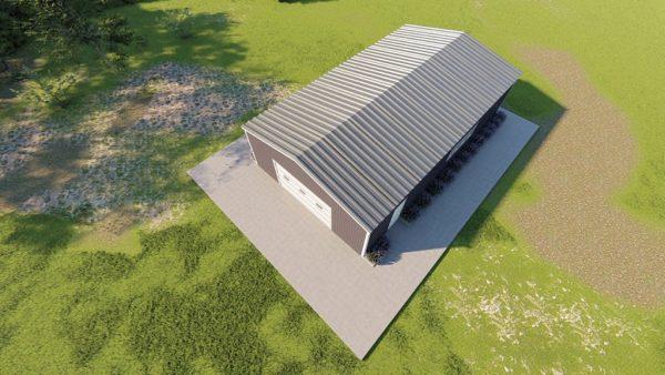 Base building packages 30x50 metal building rendering 6