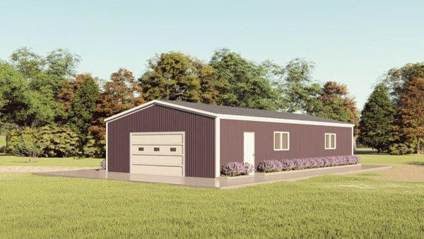 Base building packages 30x60 metal building rendering 1