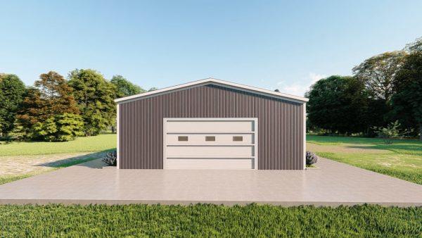 Base building packages 30x60 metal building rendering 2